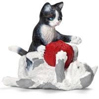 Schleich Spielfigur Katzenjungen mit Wollknäuel